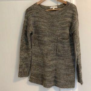 Grey blue purple knit sweater